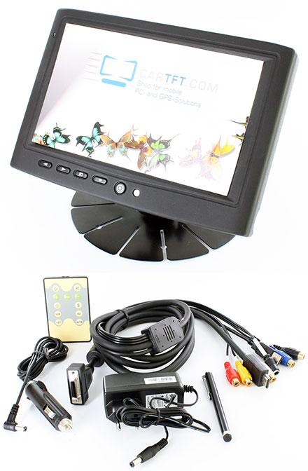 "CTFHDM700-<b>HM</b> - HDMI 7"" TFT - Capacitive Multi-Touchscreen USB - Video - Autodimmer - Audio (<b>800nits , TMR, Partly metal enclosure</b>)"